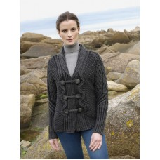 Ladies Charcoal Grey Knitted Cardigan Sweater