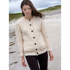 Traditional Irish Buttoned Knitted Lumber Cardigan